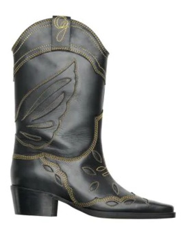 leather-mid-calf-cowboy-boots by ganni