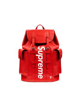louis-vuitton-x-supreme-christopher-backpack-epi-pm-red by stockx