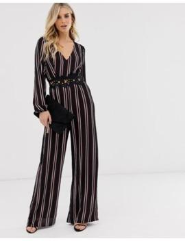 ax-paris-stripe-long-sleeve-jumpsuit by asos