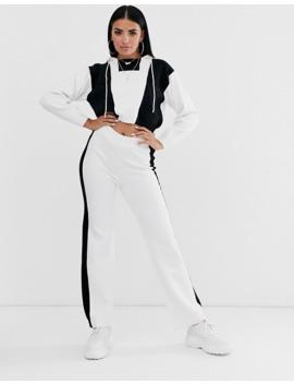 asos-design-two-piece-color-block-knit-hoodie by asos-design