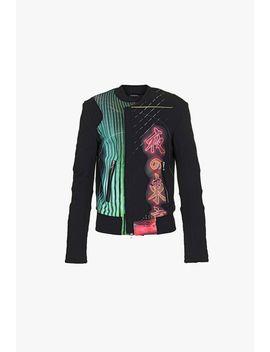 multicolor-print-cotton-jacket by balmain