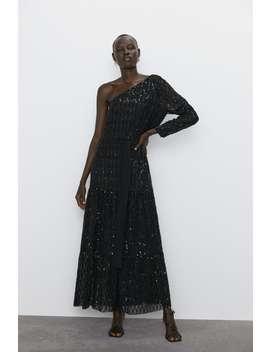 sequinned-asymmetric-dress-maxidresses-woman by zara