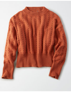 ae-studio-pointelle-mock-neck-sweater by american-eagle-outfitters