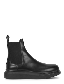 black-leather-chelsea-boots by alexander-mcqueen