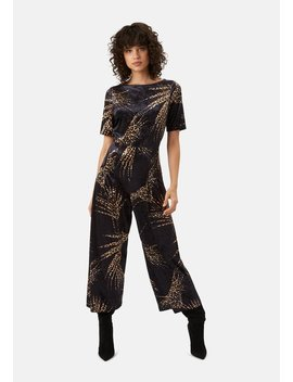 Delivery +Returns +Bianca Velvet Jumpsuit In Black by Traffic People