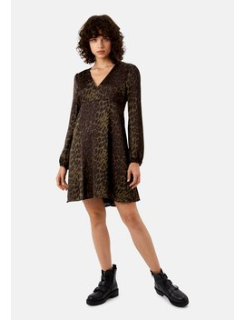Delivery +Returns +Mama Mia Mini Animal Print Dress In Green by Traffic People