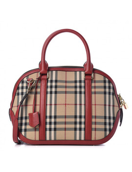 burberry-horseferry-check-small-orchard-bowling-bag-honey-parade-red by burberry