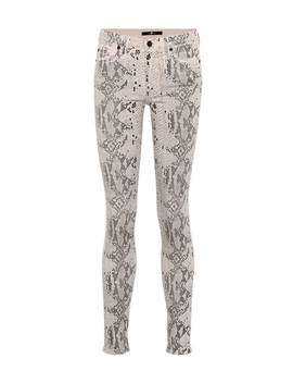 the-skinny-snake-print-jeans by 7-for-all-mankind