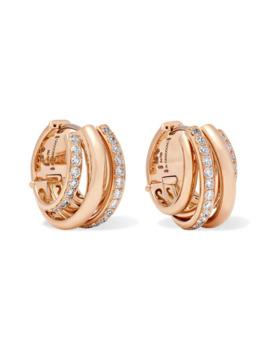 allegra-18-karat-rose-gold-diamond-earrings by de-grisogono