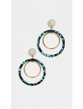 pave-double-hoop-earrings by lele-sadoughi