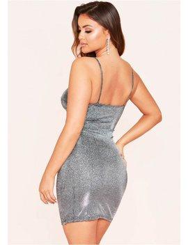sylvie-silver-glitter-mini-dress by missy-empire