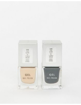 new-look-2-pack-nail-varnish-in-beige-&-dark-grey by new-look
