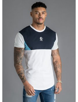 Gk Lupo T Shirt   Navy/White/Blue by The Gym King
