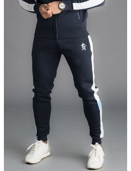 Gk Capone Tracksuit Bottoms   Navy Nights by The Gym King