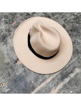 cream-felt-hat by never-fully-dressed