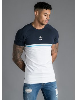 Gk Gilchrist T Shirt   Navy/White/Blue by The Gym King