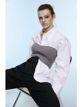 pantalon-en-jacquard-avec-ceinture by zara
