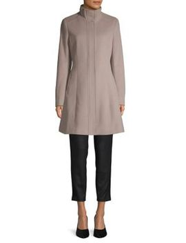 seam-wool-blend-coat by calvin-klein
