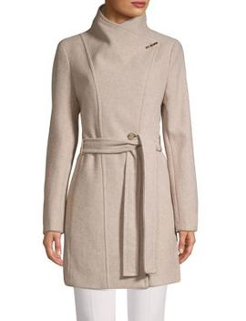 wool-blend-wrap-coat by calvin-klein