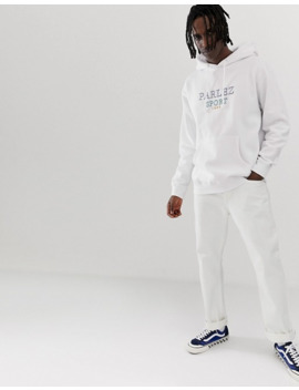 parlez-trace-hoodie-with-embroidered-chest-logo-in-white by parlez