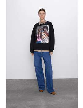 girl-print-sweatshirt by zara