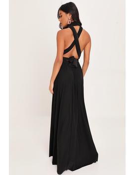 black-slinky-wear-me-any-way-plunge-maxi-dress by i-saw-it-first