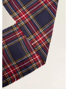 bufanda-cuadro-escocés by mango