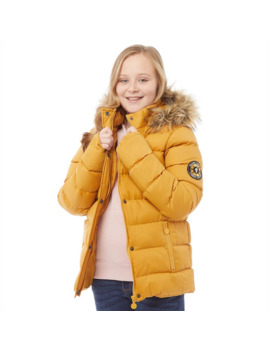 board-angels-girls-hooded-puffer-jacket-mustard by board-angels