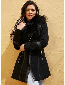 catrina-faux-fur-trim-coat by guess