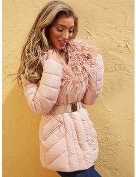 sujo-faux-fur-trim-puffer-jacket by guess