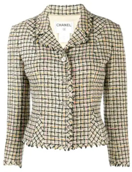 2003s-tweed-slim-fit-jacket by chanel-pre-owned