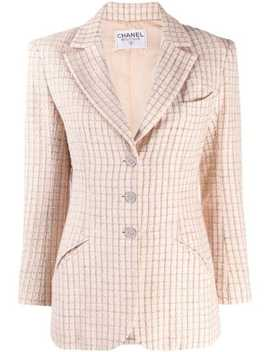2000s-checked-slim-blazer by chanel-pre-owned