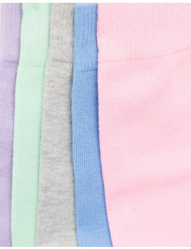 asos-design-5-pack-ankle-sock-with-pastel-colour-save by asos-design