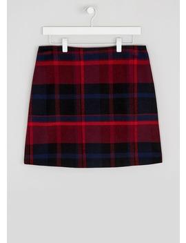 tartan-check-a-line-skirt by matalan