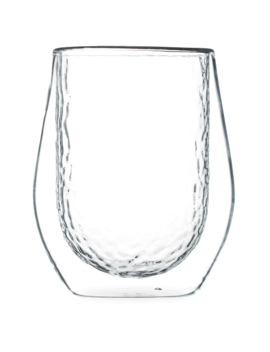 Hammered Clear Double Wall Glass by T2 Tea