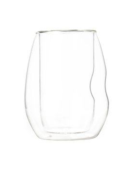 Indented Double Wall Glass Clear by T2 Tea