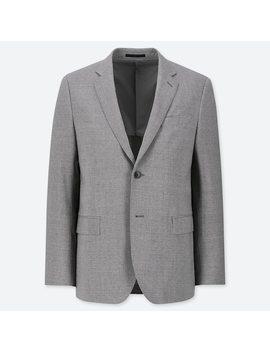 veste-blazer-de-costume-en-laine-stretch-coupe-slim-homme by uniqlo