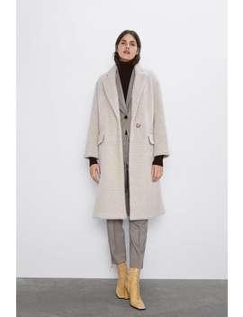 manteau-à-chevrons-effet-fourrure by zara