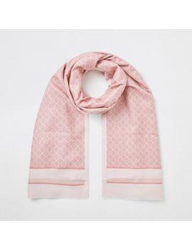 pink-ri-monogram-blocked-scarf by river-island