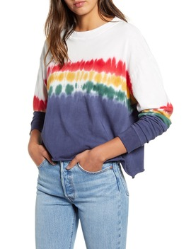 rainbow-tie-dye-long-sleeve-tee by daydreamer