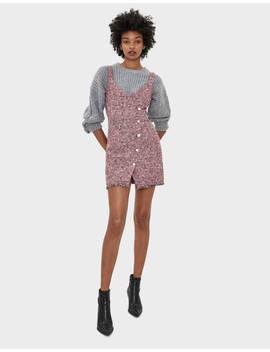 buttoned-short-dress--dresses---women- -bershka by bershka