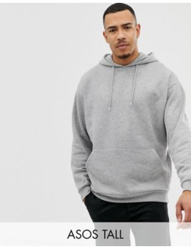 asos-design-tall-oversized-hoodie-in-gray-marl by asos-design