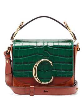 the-c-mini-lizard-effect-leather-cross-body-bag by chloé