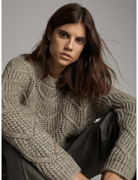 purl-knit-sweater-with-cable-knit-detail by massimo-dutti