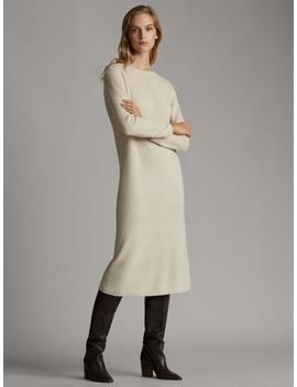 boatneck-knit-dress by massimo-dutti