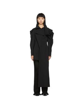 black-deconstructed-shoulder-asymmetrical-coat by yohji-yamamoto