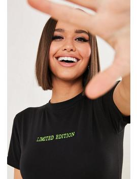 tall-black-short-sleeve-slogan-bodysuit by missguided