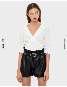 ruffled-blouse--shirts---women-|-bershka by bershka