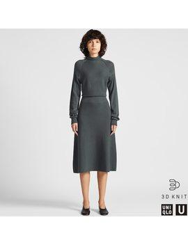 uniqlo-u-vestido-punto-3d-lana-extrafina-de-merino-mujer by uniqlo