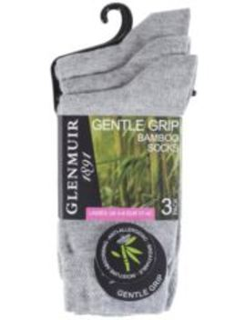 Ladies 3 Pair Glenmuir Comfort Cuff Plain Bamboo Socks by Sock Shop
